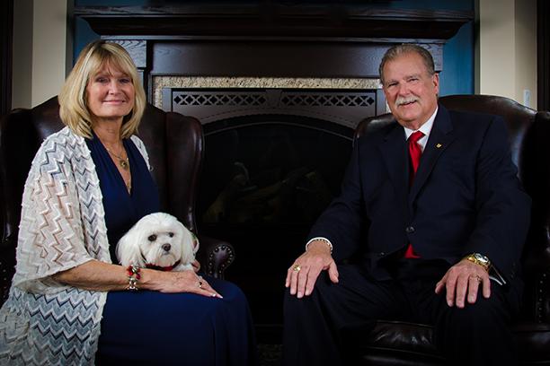 Bernie & AJ Truax with Buddy their dog